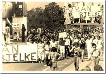 ban bjelke march and anti uranium picket 1977