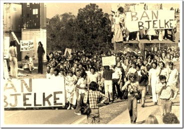 ban bjelke march and anti uranium picket 1977
