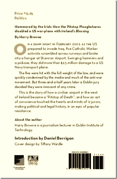 Hammered by the Irish back cover