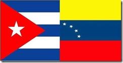 CUBA and Venezualan Flags