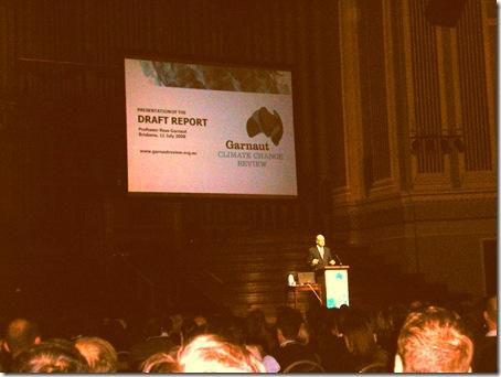 Prof Ross Garnaut talk at BCC on Climate Change