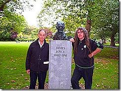 Dan and Ciaron at James Joyce Grave