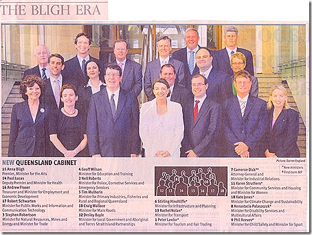 Bligh Cabinet 2009