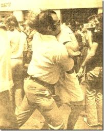 Domenico Cacciola arrests anti-uranium demostrator