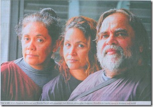 sam watson  rhonda purcell & roxanne mc donald in oodgeroo bloodline to country
