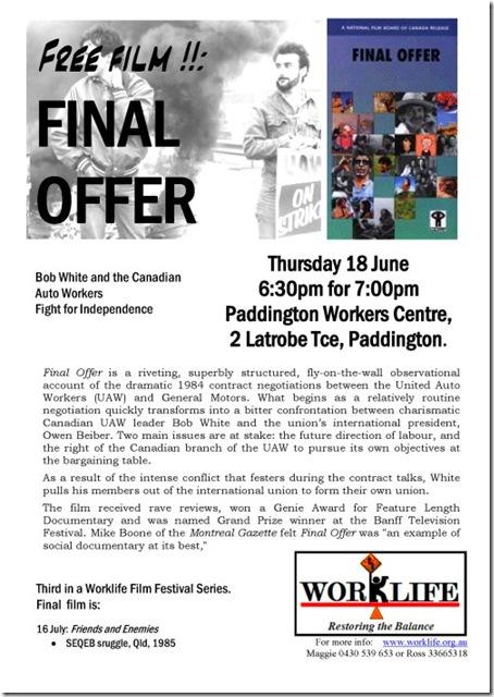 worklife film 'final offer'
