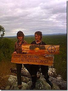 Yulangi and Emily inside Shoalwater Military exercise