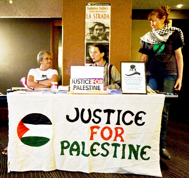 ann-kathy-and-fay-at-the-ticket-booth-at-the-palestinian-days-film-festival