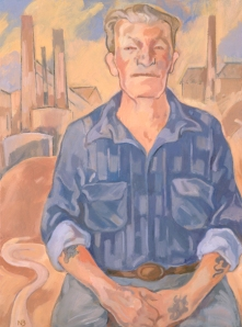 Pat Mackie, 2004 - portrait by Nancy Borlace AM