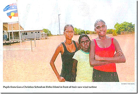 Indigenous students from Elcho Island