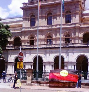 Aboriginal flag at Parliament