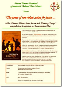 Brisbane launch - Flyer for Donna Mulhearn 24 March 2010 (2)