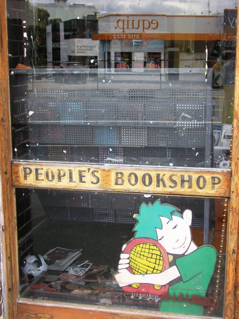 Where the People's Bookshop once was