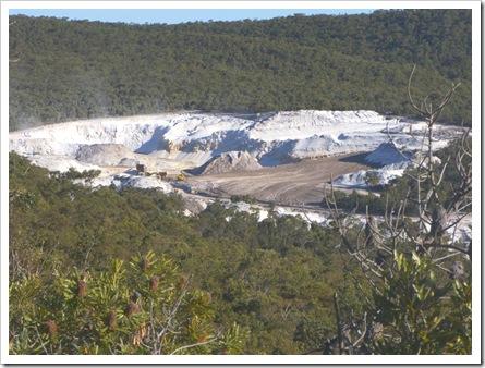 Unimin Silica mine N Stradbroke Island