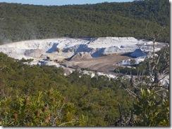 unimin silica mine at Vance on nth stradbroke island