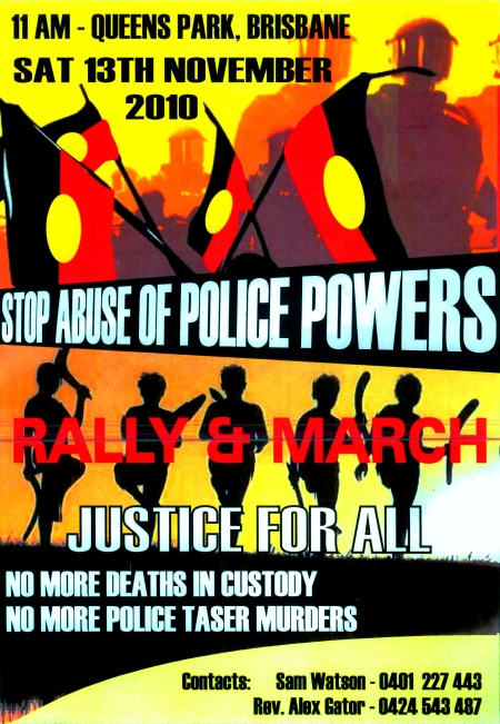 Birrigubba poster for National Black Deaths in Custody Protest