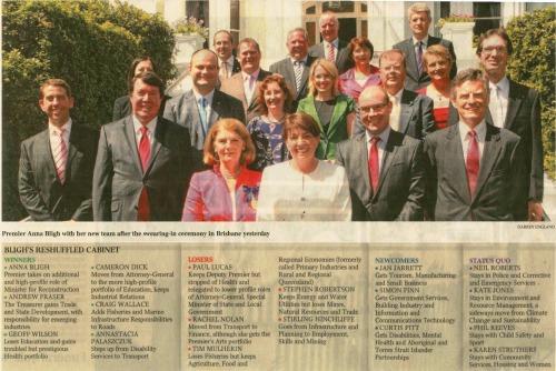 Qld Labor Cabinet 2011