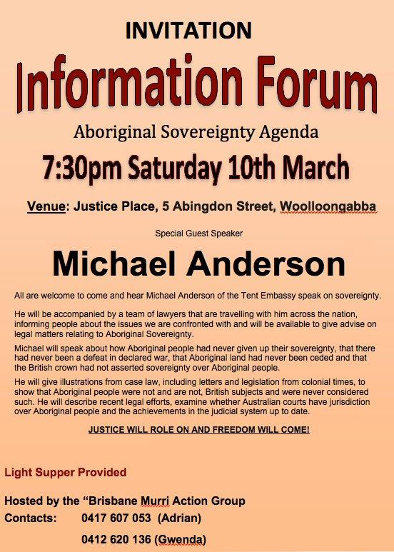 Aboriginal Sovereignty Agenda