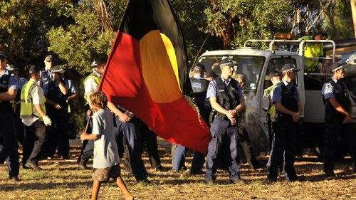aboriginal tent embassy on heirisson island