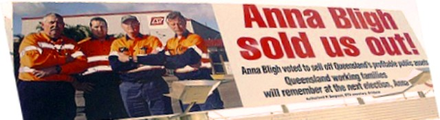 anna bligh sold us out