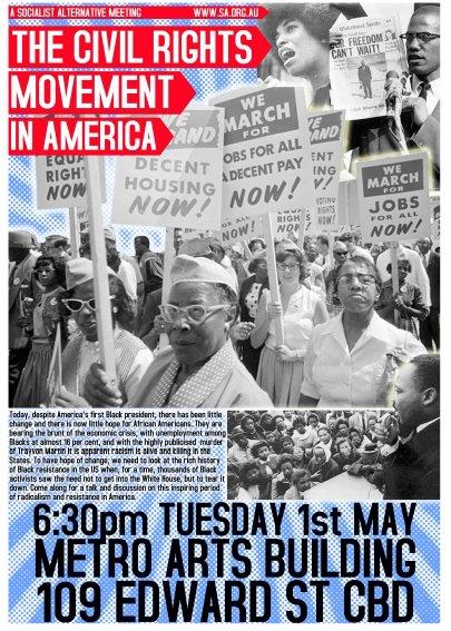 Socialist Alternative Meeting: The Civil Rights Movement inAmerica