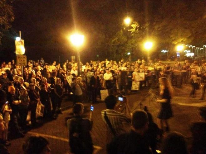 Qld Uncut rally at parliament 23 Aug 2012