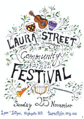 laura street festival 25 nov poster