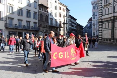 Workers in Florence protesting the austerity measures. Confederazione Generale Italiana del Lavoro (CGIL)