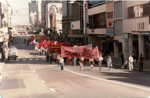 Red contingent in May Day 1982 - 1