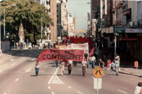 Red contingent in May Day 1982 - 2