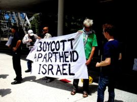 ABC protest about non-coverage of hunger strikes in Palestine 2