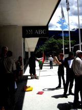 ABC protest about non-coverage of hunger strikes in Palestine