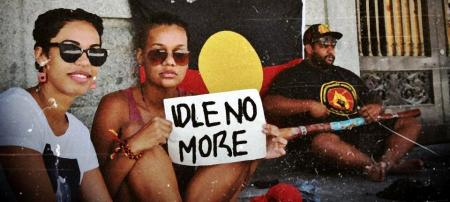 idle no more at brisbane city hallsittin' here makin' the calland u say, what for?sovereignty!