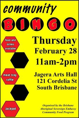 tent embassy community bingo