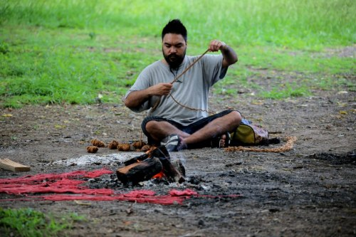 DeeKay prepares for corroboree