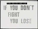 If You Dont Fight You lose