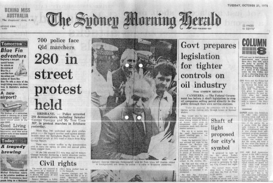 Georges, Uren arrested by Det *** ***** on 30 October 1978 - SMH