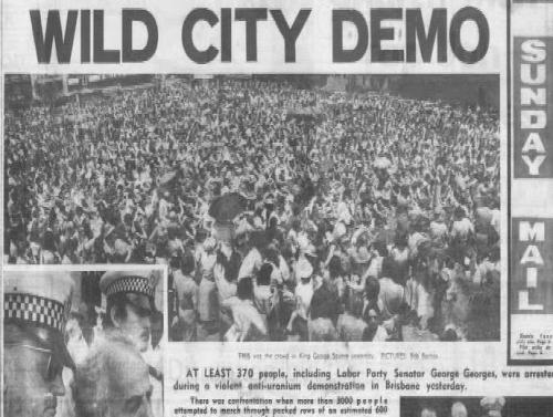 Anti-Uranium Demonstration 22 Oct 1977
