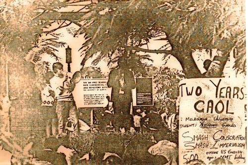 Dick Shearman speaks at Vietnam War Moratorium forum at UQ 1970