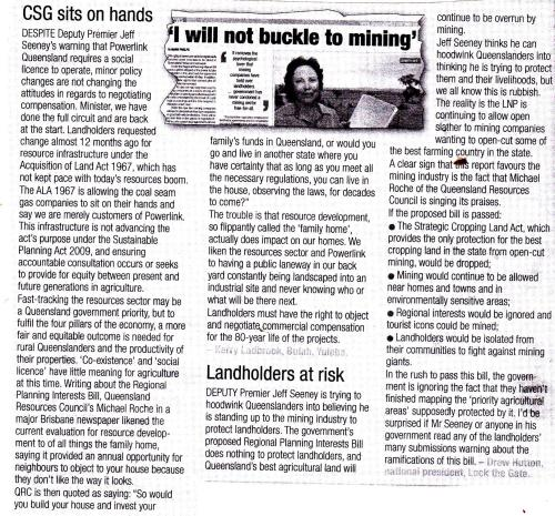 CSG sits on its hands