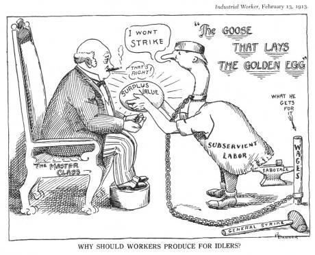 Industrial Worker cartoon, 1913