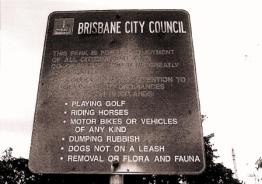 Sign on DOGIT in Musgrave Park