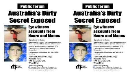 Aust's dirty secrets leaflet
