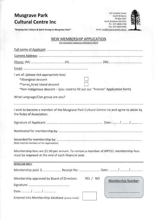 MPCCI Membership application
