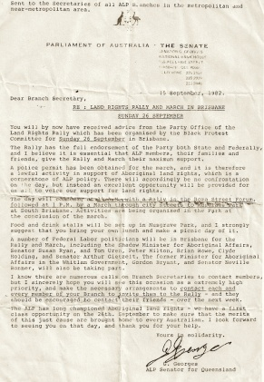 Lost Promise - Land Rights letter