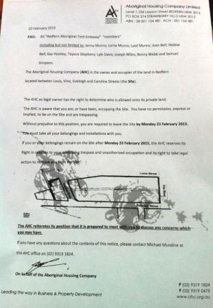 redfern eviction notice