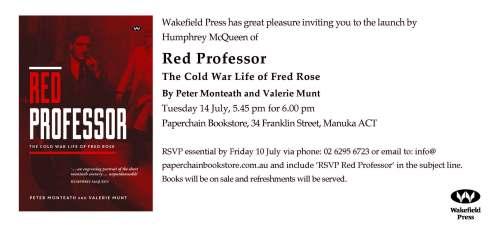 Red Professor Canberra invitation