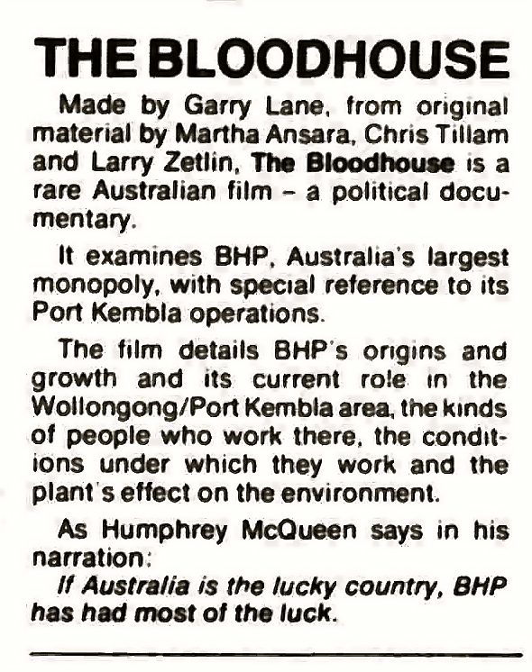 The Bloodhouse in the February 1978 edition of FilmNews