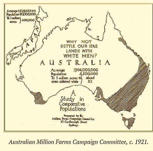 Australian Million Farms Campaign Committee c1921
