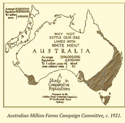 Australian Million Farms Campaign Committee c1921